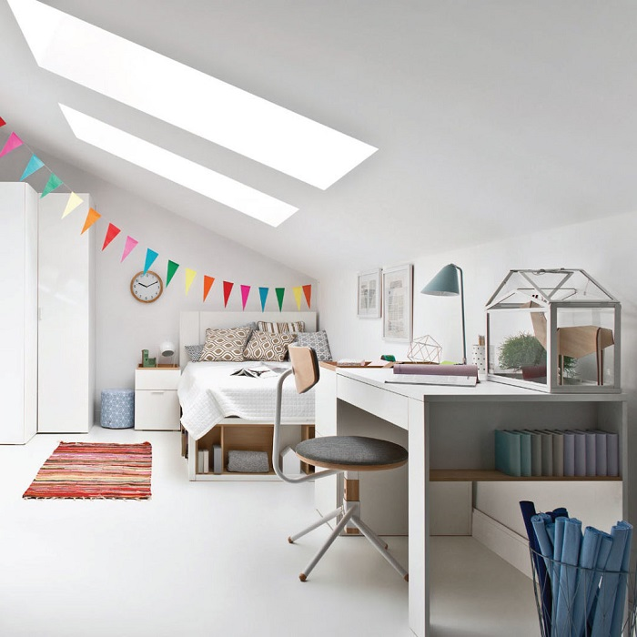 Get the Look - White Kids Room - Pops of Colour