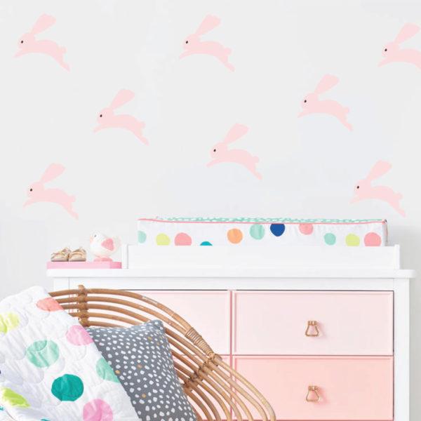 Bunni Bunny Wall Decals - Pink