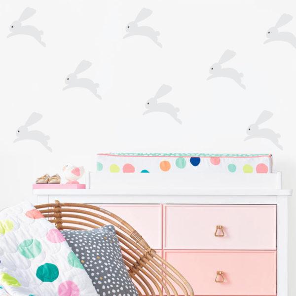 Bunni Bunny Wall Decals - Light Grey