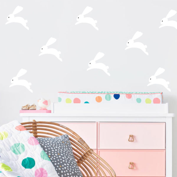 Bunni Bunny Wall Decals - White