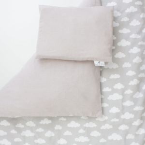 Bunni Grey Clouds Cot Set