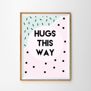Munks + Me Hugs This Way Art Print