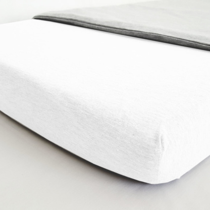 Lola & Peach Cot Fitted Sheet - White Jersey Knit