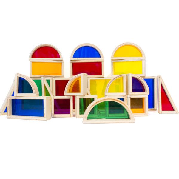 See-Through Coloured Blocks