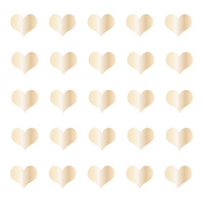 Bunni Heart Decals - Gold