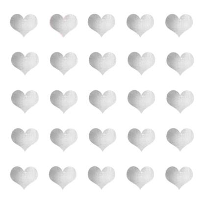 Bunni Heart Decals - Silver