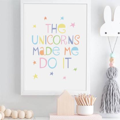 Bunni Unicorns Art Print