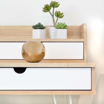 Kika Double Desk - Close-up