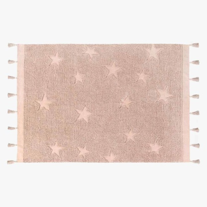 Lorena Canals Hippy Stars Rug - Vintage Nude Pink