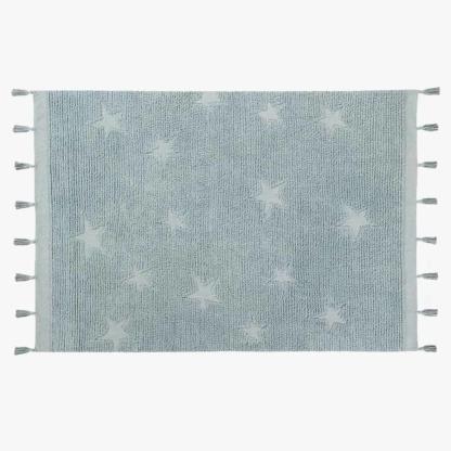 Lorena Canals Hippy Stars Rug - Aqua Blue