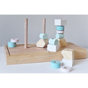 Mumu & Me Wooden Stacking Shapes Toy