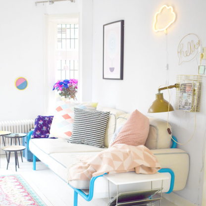 A Little Lovely Company Cloud Neon Style Light - Yellow