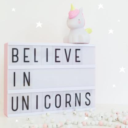 A Little Lovely Company Unicorn Little Light & A4 Lightbox - Pink