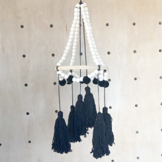 Tiger Lily Black Tassel Mobile