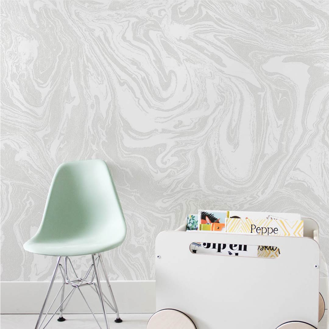 Grey White Marble Wallpaper 10m Roll Clever Little Monkey