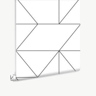 Geo Black & White Wallpaper
