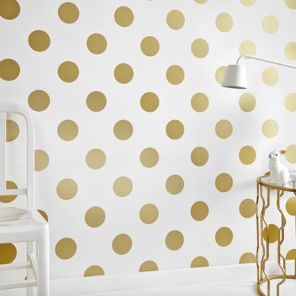 Dotty Gold Wallpaper
