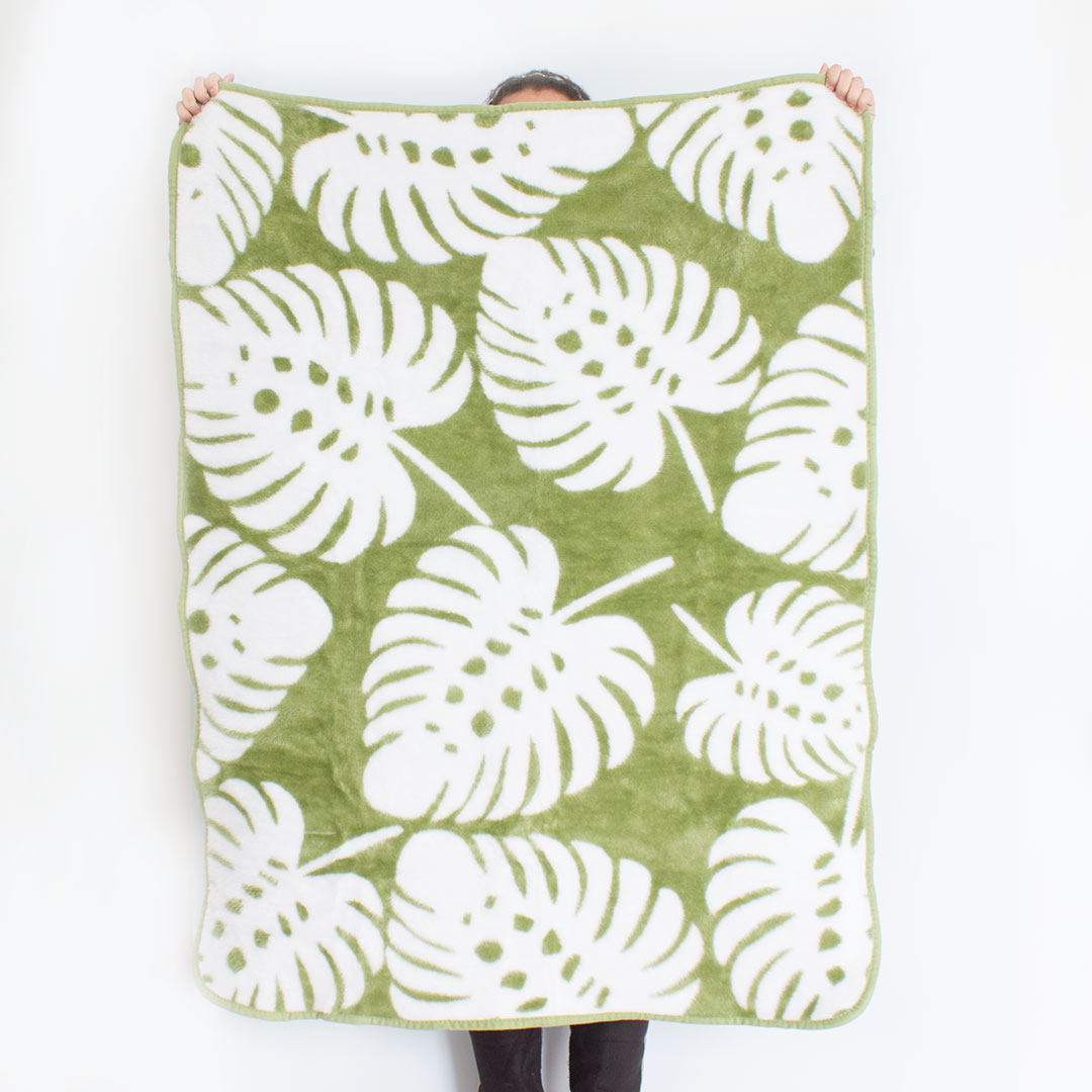 Bunni Monstera Baby Blanket