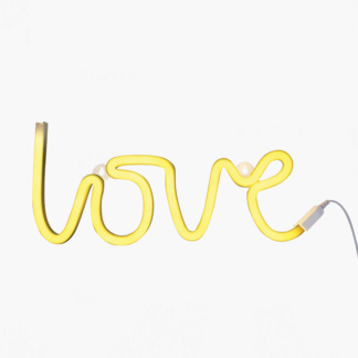 A Little Lovely Company Love Neon Style Light - Yellow