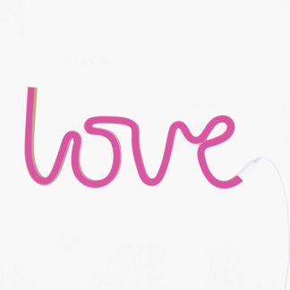 A Little Lovely Company Love Neon Style Light - Pink