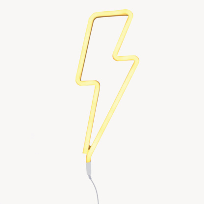 A Little Lovely Company Lightning Bolt Neon Style Light - Yellow