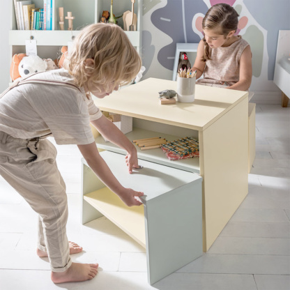 Vox Tuli Toddler Table - Yellow & Mint