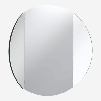 Simple Round Wall Mirror - Black