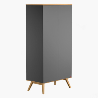 Mitra Two-Door Wardrobe - Graphite