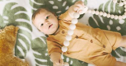 Bunni Monstera Baby Blanket