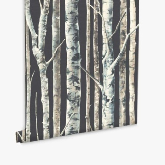 Birch Trees Wallpaper - Charcoal