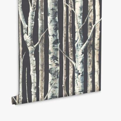Birch Trees Wallpaper - Charcoal