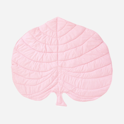 Monstera Leaf Playmat - Pink