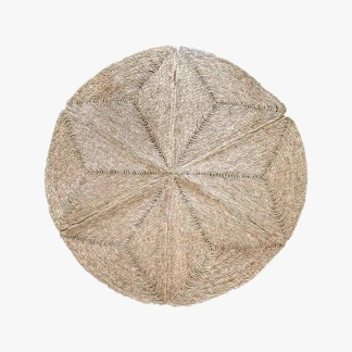 Geometric Seagrass Rug - Small