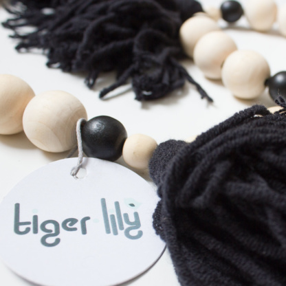 Tiger Lily Tassel Garland - Black