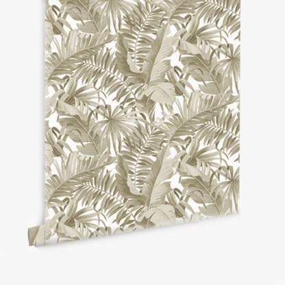Tropical Leaves Wallpaper - Gold