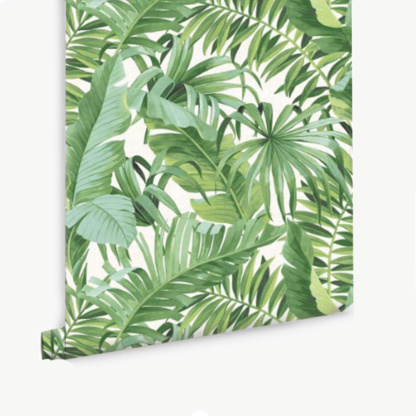 Tropical Leaves Wallpaper - Green