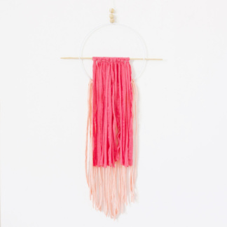 Circle T-Shirt Wall Hanging - Neon Pink & Peach