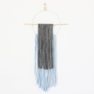 Bunni Circle T-Shirt Wall Hanging - Grey & Blue
