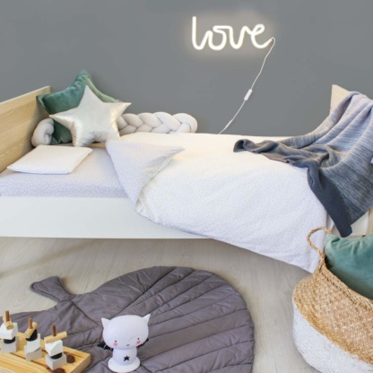 Bunni Ombre Baby Blanket - Grey & Grey Messy Dot Cot Set