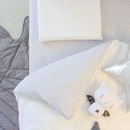 Bunni Grey Messy Dot Cot Set