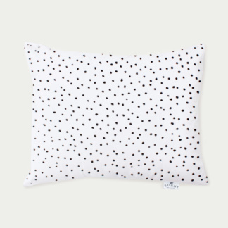 Bunni Black Messy Dot Junior Pillow