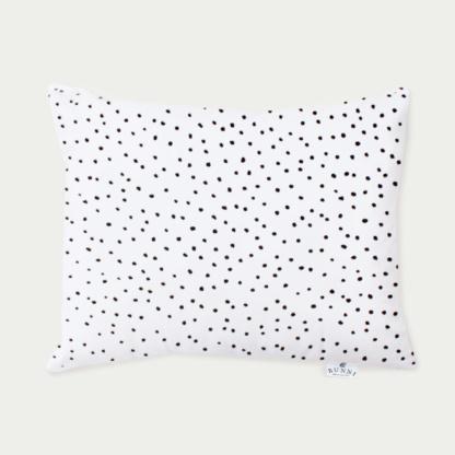 Bunni Black Messy Dot Junior Pillow