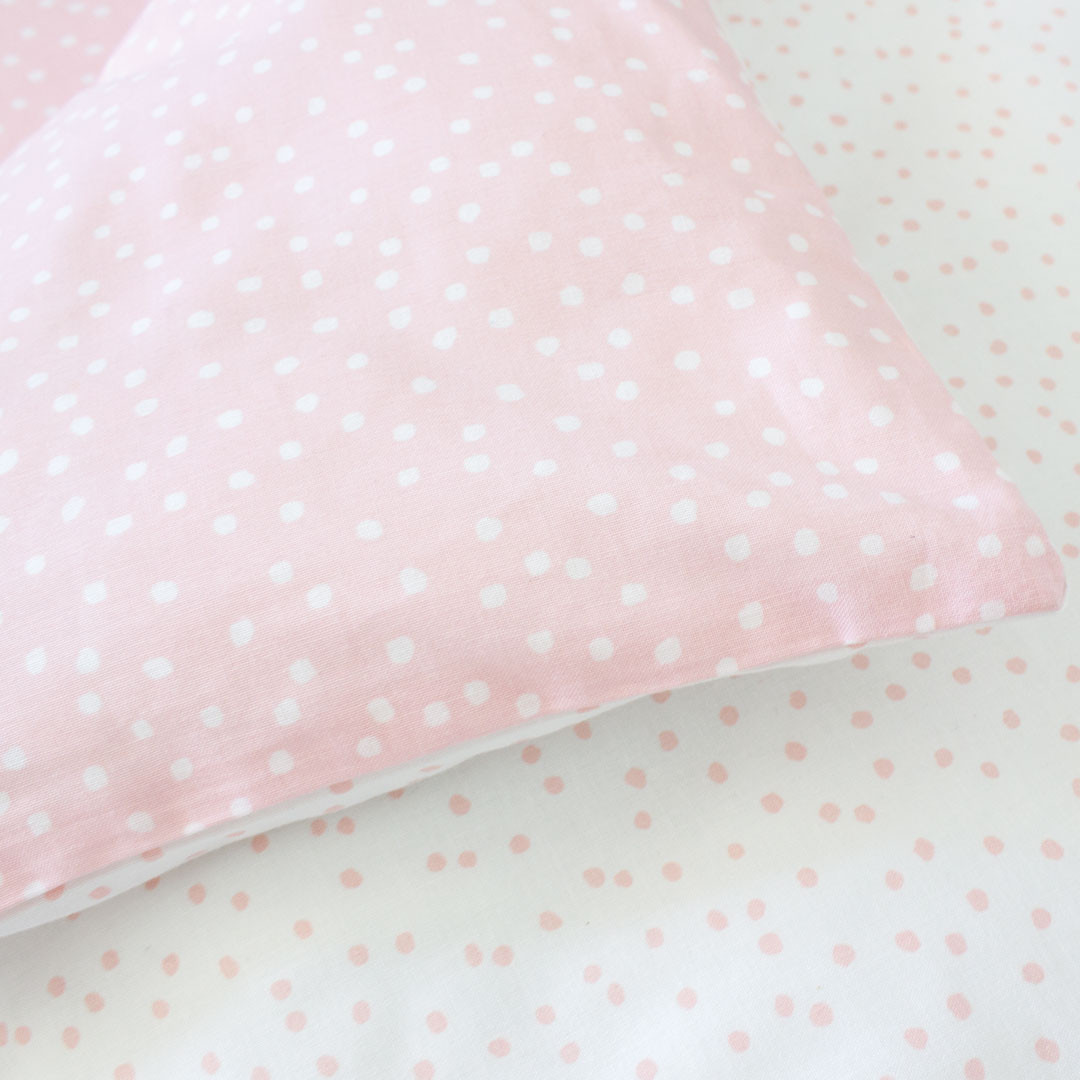 Nude Pink Messy Dot Cot Set By Bunni Clever Little Monkey