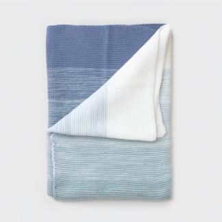 Bunni Ombre Baby Blanket - Ocean Blue