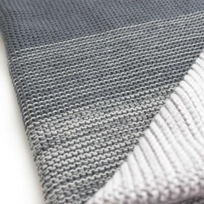 Bunni Ombre Baby Blanket - Grey