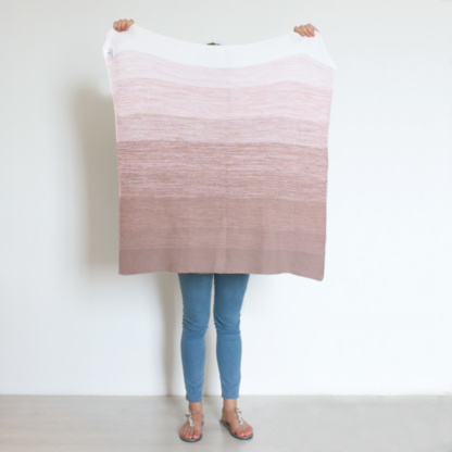 Bunni Ombre Baby Blanket - Vintage Nude Pink