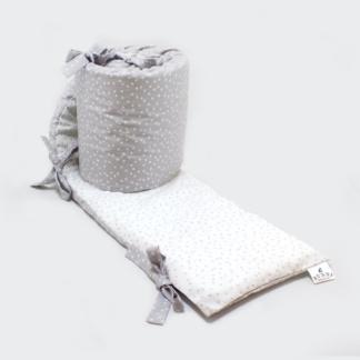 Bunni Grey Messy Dot Cot Bumper Cover