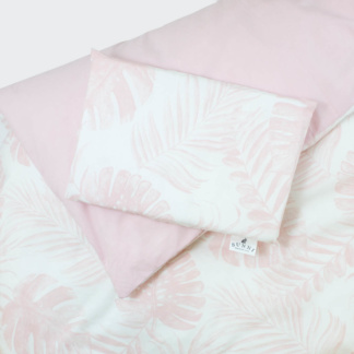 Bunni Nude Pink Tropical Leaf Cot Set