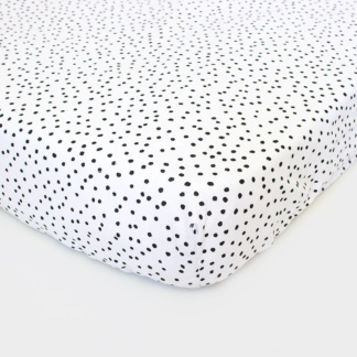 Bunni Black Messy Dot Cot Fitted Sheet