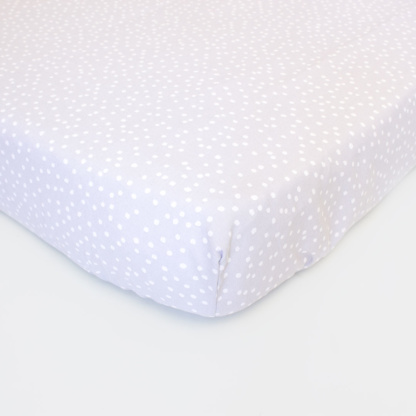 Bunni Grey Messy Dot Cot Fitted Sheet